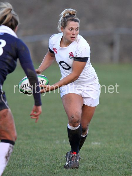 Fleetwood in action. Scotland Women v England Women in the Six Nations ...